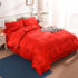 Quilt cover single-piece big red wedding thickened brushed quilt cover single double student dormitory quilt cover single-piece quilt cover