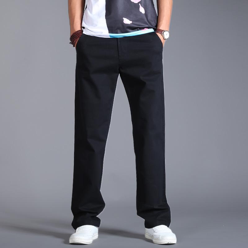 春季新款男士休闲裤宽松直筒裤 加大码休闲裤男青年长裤弹力男裤