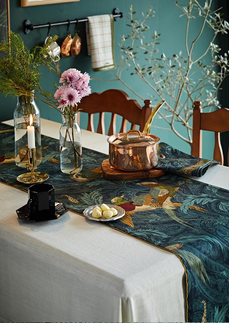 蜡笔派欧式客厅桌旗 美式茶几餐桌旗套装 北欧现代简约床旗