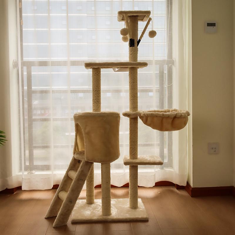 网红猫爬架猫窝猫树一体别墅猫架子大型超大猫抓通天柱跳台多功能