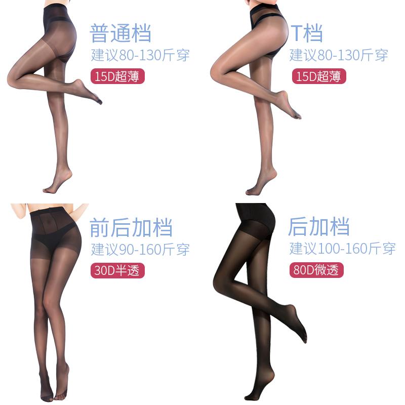 宝娜斯珠光油亮丝袜女薄款防勾丝夏天光腿神器黑色隐形肉色连裤袜