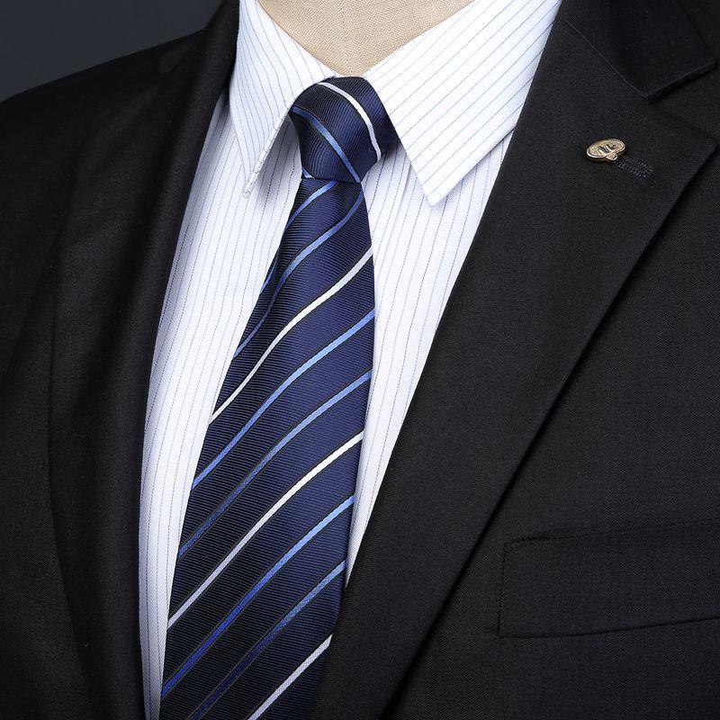LOVETENO职业男士西装领带正装商务8CM学生韩版工作时尚礼盒装tie