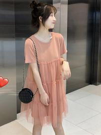 2020夏季新款韩版小清新蛋糕网纱拼接裙子仙女超仙的气质连衣裙女
