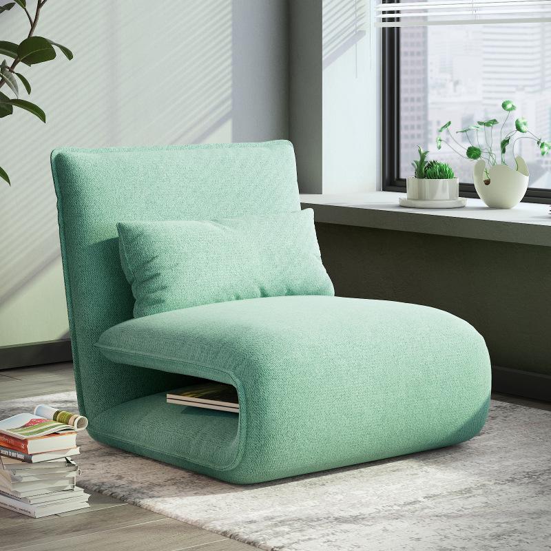 懒人沙发榻榻米卧室单人床折叠地铺睡垫阳台飘窗靠背躺椅地板沙发