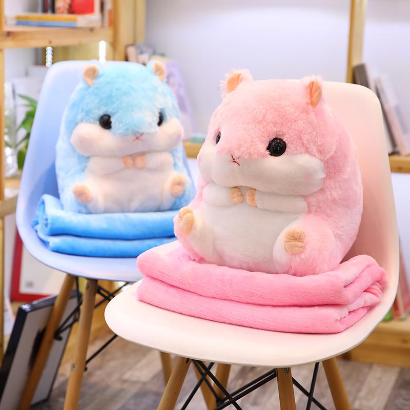 仓鼠公仔玩偶毛绒玩具可爱布娃娃床上睡觉抱枕暖手捂插手女生冬天