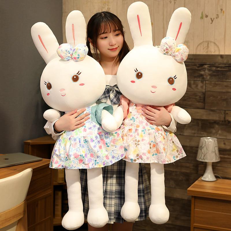 兔子毛绒玩具女孩布娃娃儿童女陪睡觉大号抱枕可爱小白兔公仔玩偶