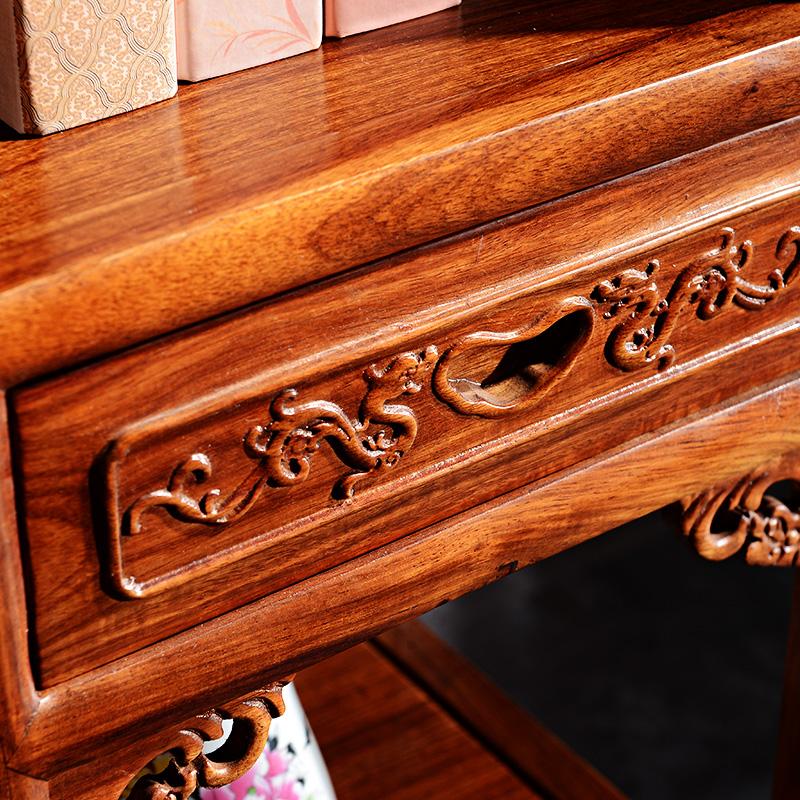 红木家具客厅茶室办公室实木多宝阁中式仿古古董架 花梨木博古架