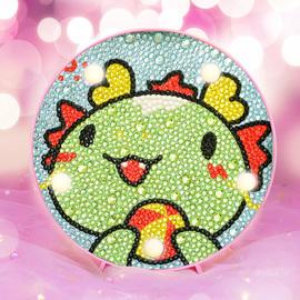 钻石画儿童女孩手工diy制作公主点钻满钻带框配灯新款粘贴水晶钻