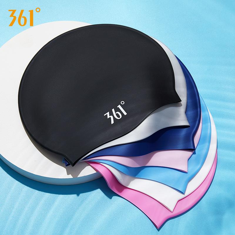 361度泳帽女士护耳长发专用防水硅胶男士大号儿童舒适游泳帽子
