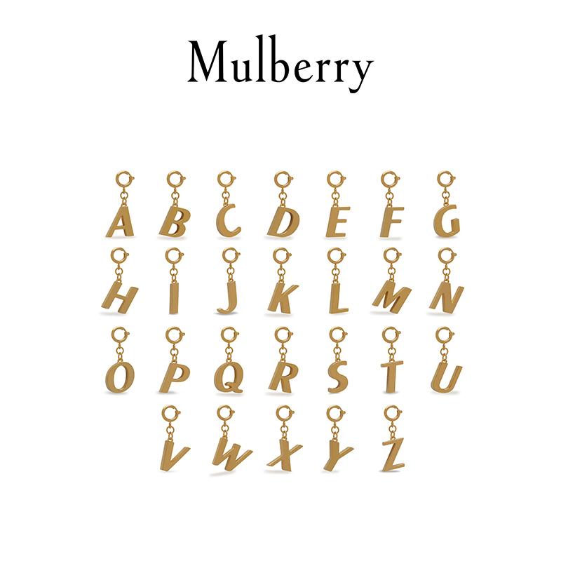 秋冬新款金属感英文字母钥匙环 玛珀利 Mulberry