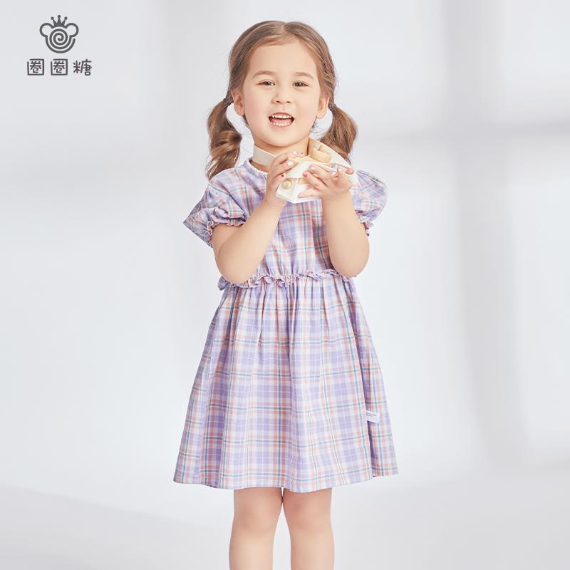 女童夏季连衣裙2021新款小童宝宝裙子夏装洋气小女孩短袖公主裙