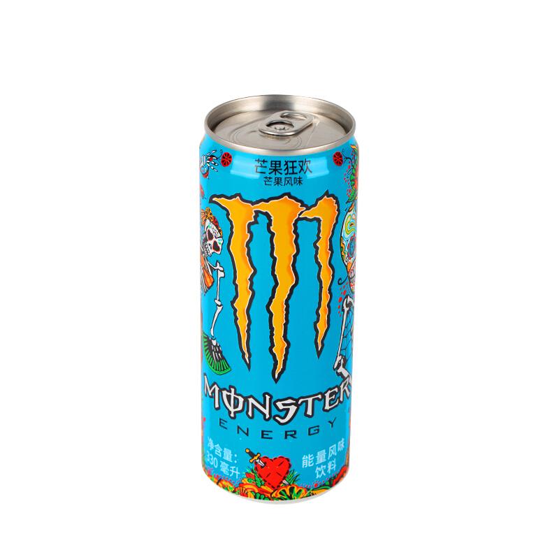 可口可乐魔爪芒果狂欢味芒果风味饮料能量饮料330ml*12整箱