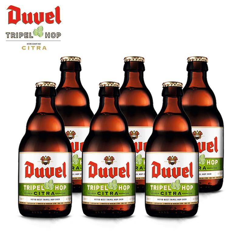 瓶装 6 330ml 原装比利时进口黄金艾尔精酿啤酒 督威三花啤酒 Duvel