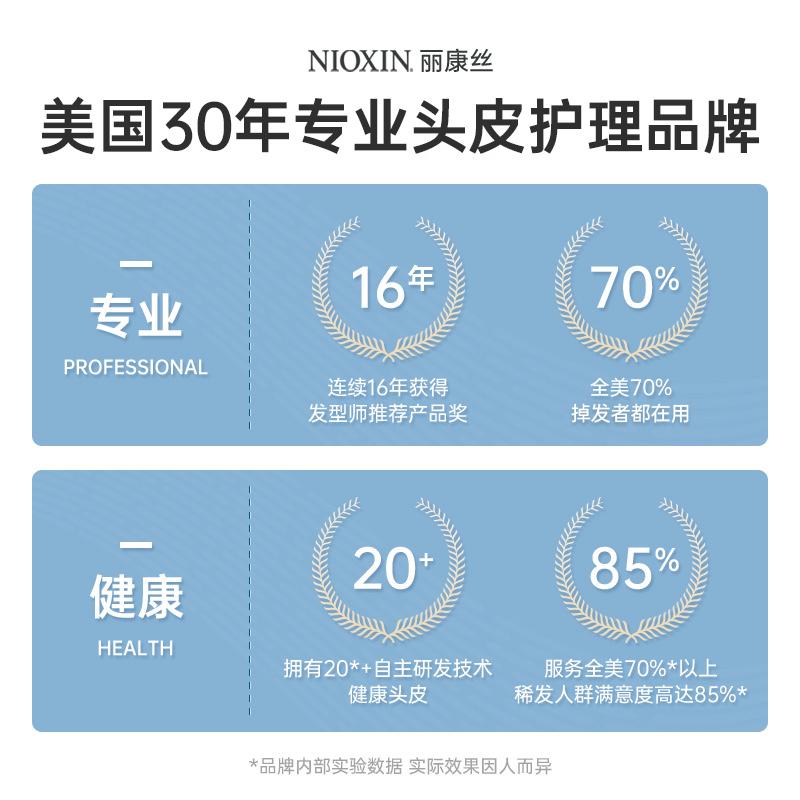 NIOXIN丽康丝无硅油去屑止痒洗发水控油蓬松香味持久留香清爽控油