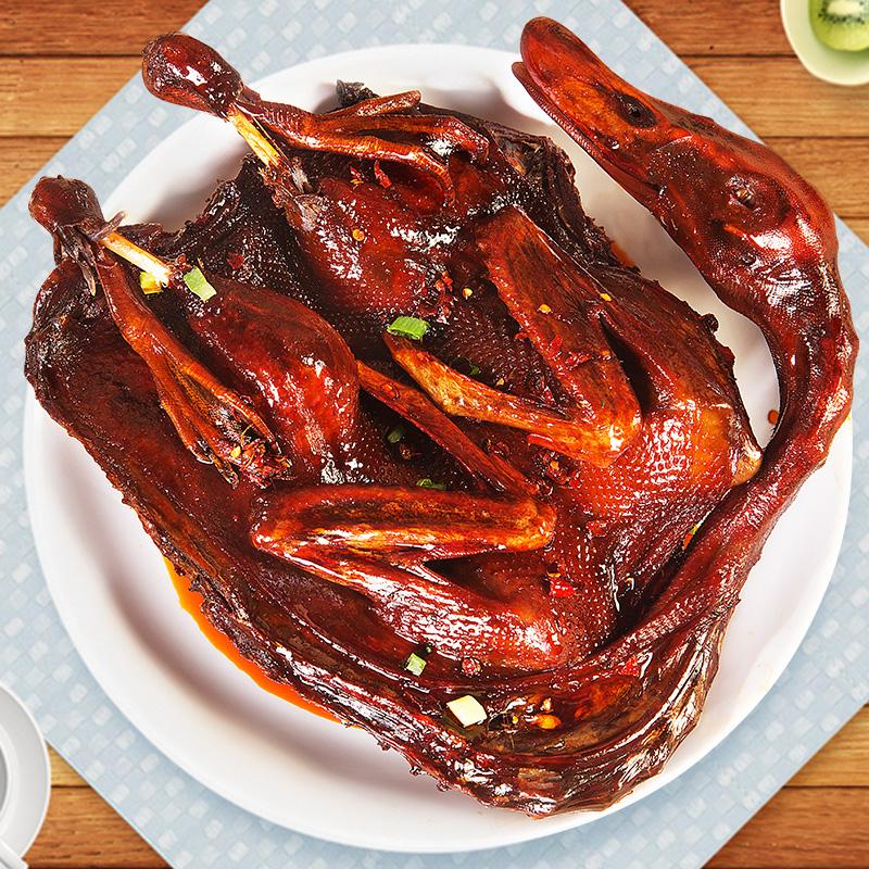 湖南酱板鸭旗舰店常德特产正宗手撕板鸭辣味美食小吃熟食零食即食