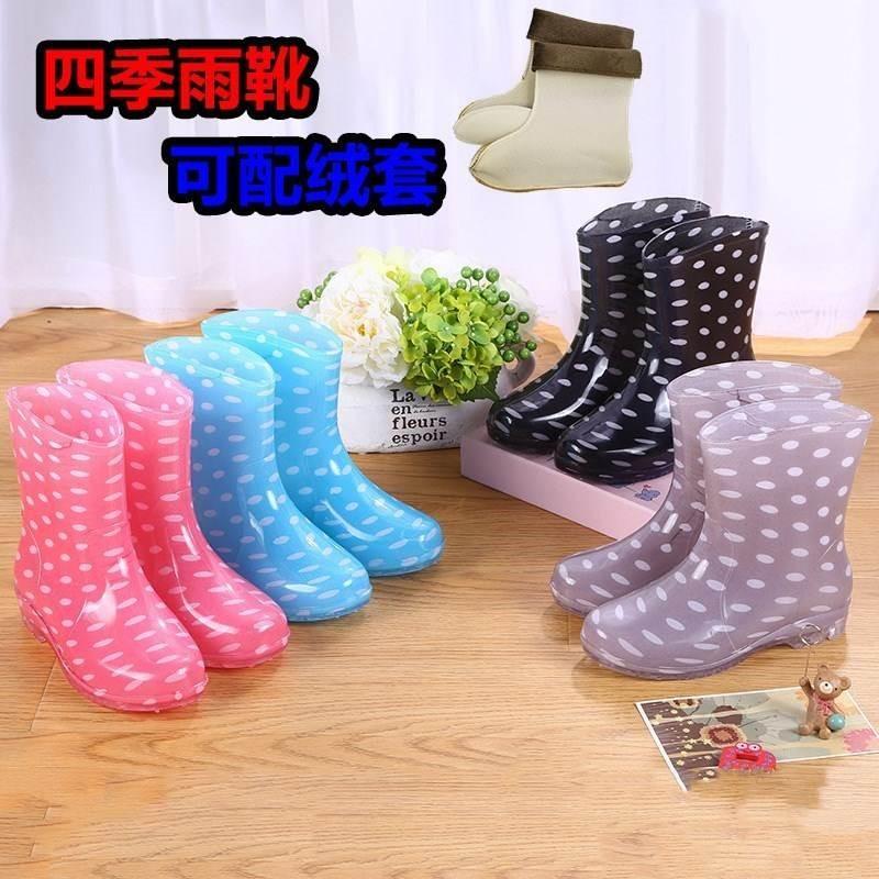 韩版时尚PVC马靴成人雨鞋高筒磨砂水鞋长筒显瘦防滑女士女鞋雨靴