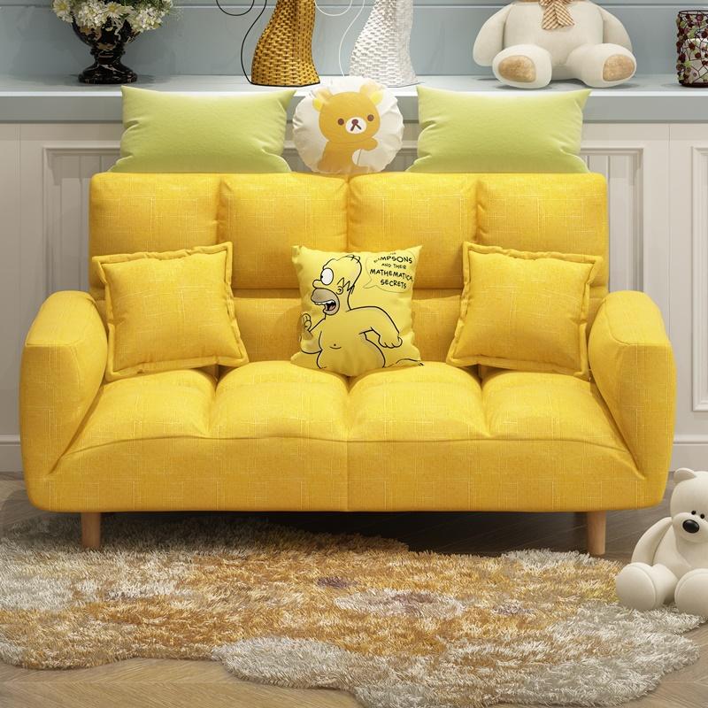 懒人沙发小户型出租房可折叠沙发床卧室简易榻榻米阳台布艺小沙发