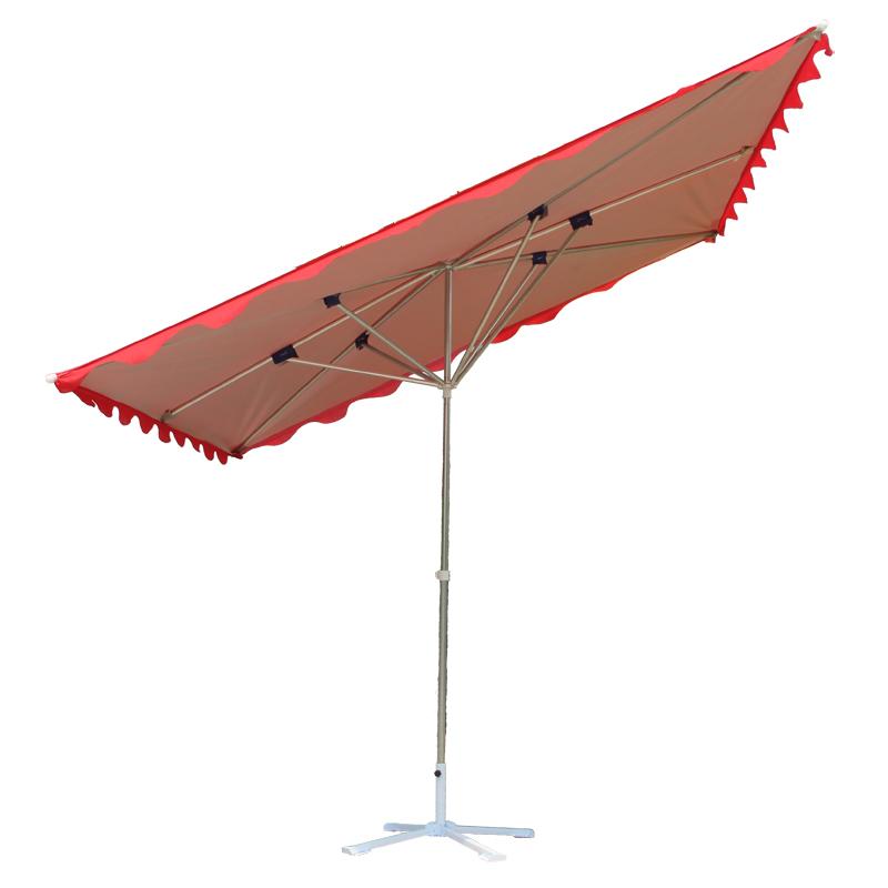 户外店铺斜坡伞遮阳伞庭院大伞摆摊折叠太阳伞防雨防晒四方门面伞