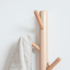 Nordic ins solid wood wall hanging coat rack wall wooden living room entrance porch creative clothes branch hanger