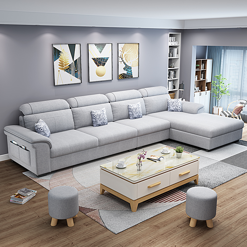 布艺沙发组合家具套装