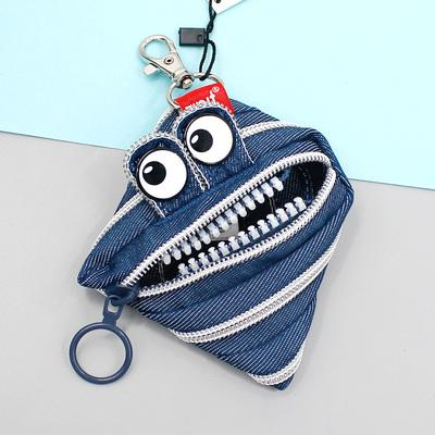以色列进口ZIPIT一根拉链包怪兽笔袋零钱收纳袋学生动物创意生日礼物圣诞礼品大小号化妆毛绒迷你钥匙包 正品