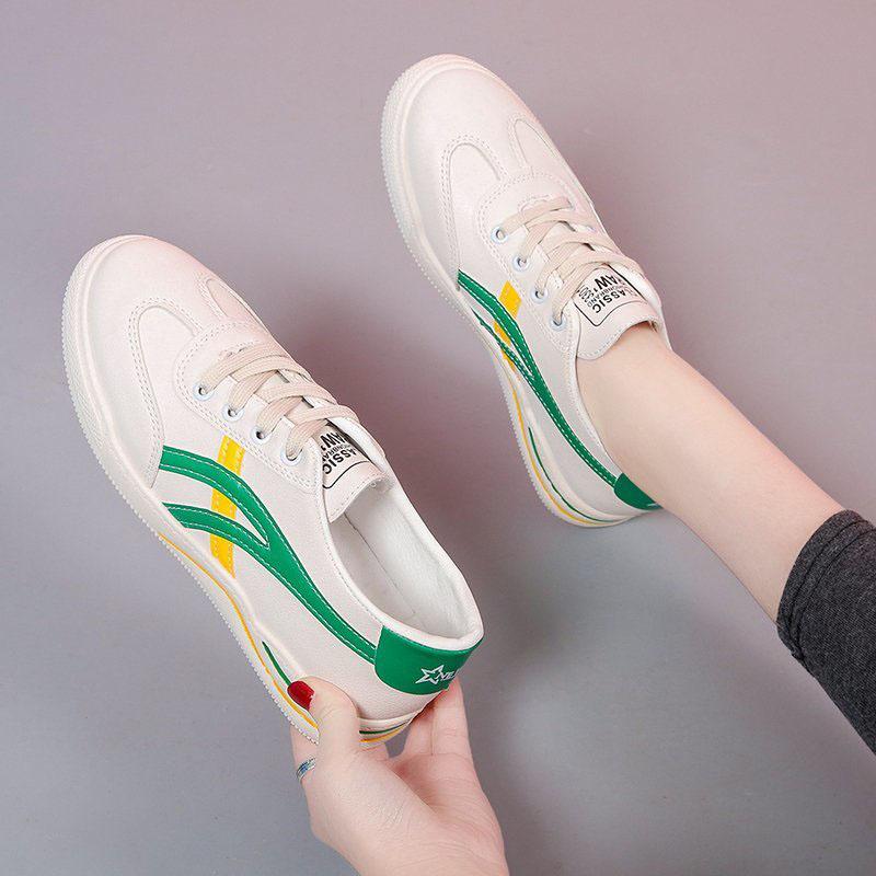 韩版女鞋小白鞋女2020新款夏季皮面百搭休闲板鞋帆布鞋女运动鞋子