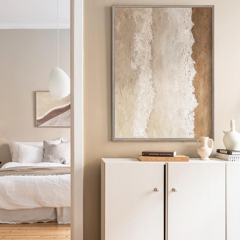 Jellypaint原创手绘 | 卧室抽象油画北欧简约现代客厅大幅装饰画