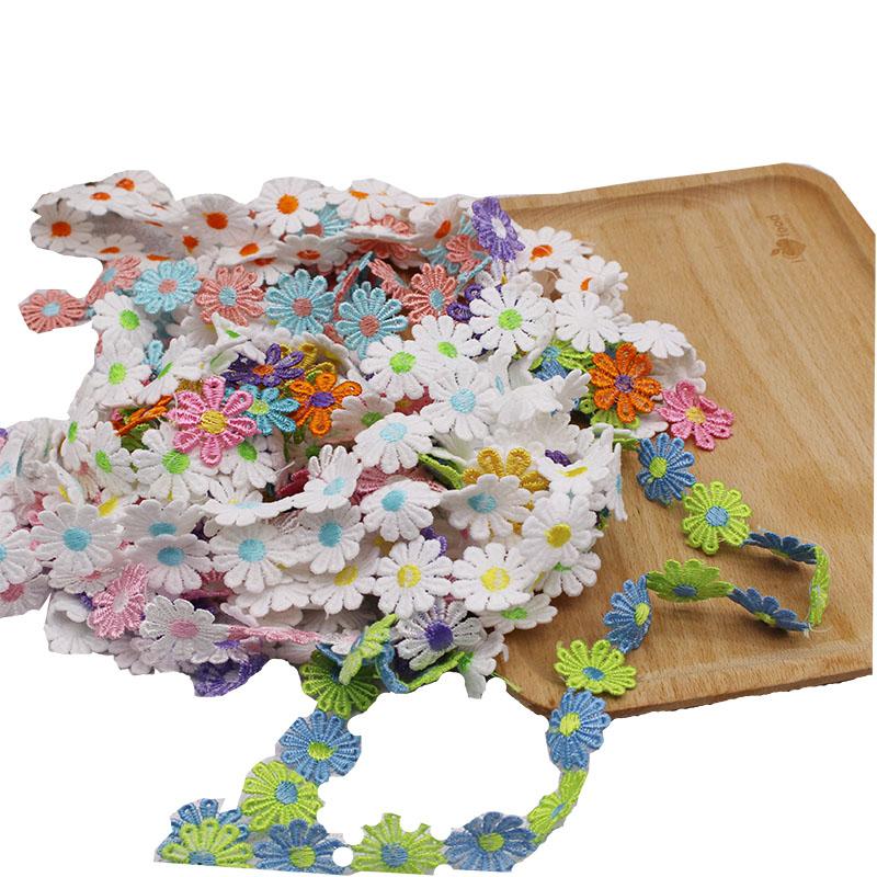 2.5厘米彩色雏菊刺绣水溶花朵手工diy装饰材料服装辅料牛