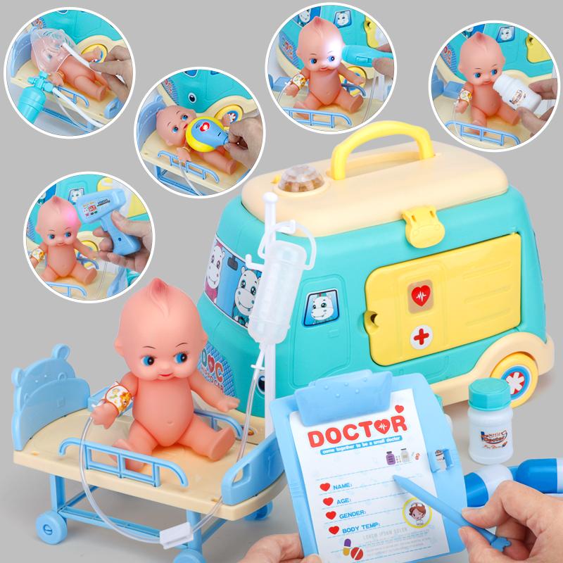 儿童救护车过家家打针小医生玩具套装工具箱男孩女孩医疗箱听诊器