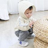 Cereal tree infant Siamese Romper winter white duck down jacket to hold the baby out clothes plus thick velvet padded