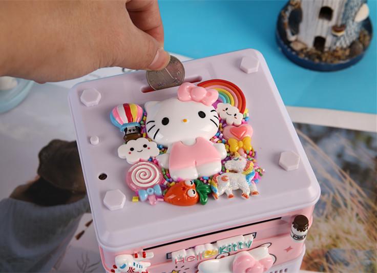 创意儿童指纹密码箱存钱罐可爱女生网红防摔大容量储蓄不可取大人