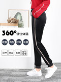2020 new feet pants double-sided gold velvet plus velvet sweat pants female thick loose large size Harlan couples