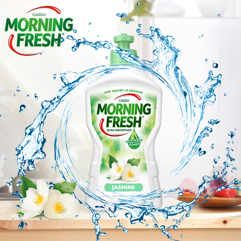 澳洲进口 Morning Fresh 食品级 茉莉味高浓缩洗洁精 400mlx3瓶