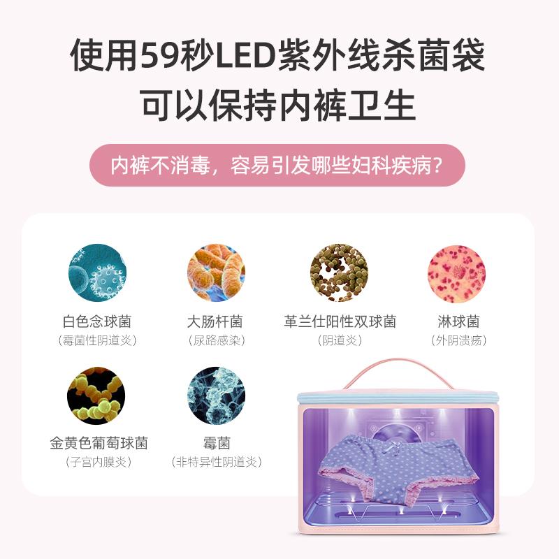 59秒内衣内裤烘干消毒机手机紫外线消毒器烘干机家用小型消毒包