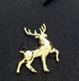 Dissatisfied with deer brooch decorated boxes gold-plated sterling silver membership Gifts
