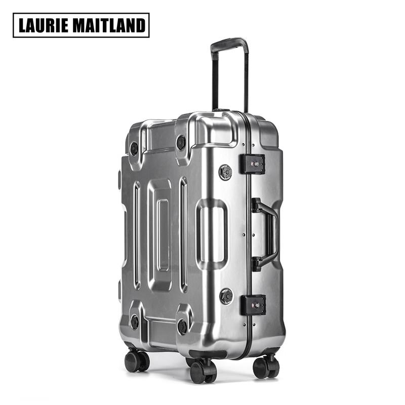 寸旅行箱学生密码箱子男 28 寸万向轮拉杆箱女 20 网红铝框 ins 行李箱