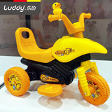 Le's little yellow duck children's electric motorcycle can sit on a tricycle 1-6 years old male and female baby charging toy car