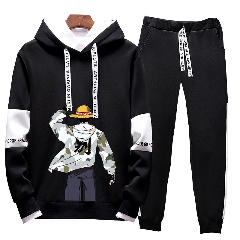 两件套学生开春秋季男韩版潮流外套长袖运动服青少年休闲卫衣套装