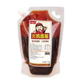韩国火鸡面酱料包1000g超辣低卡袋装拌面蘸酱香辣合启味酱料超辣