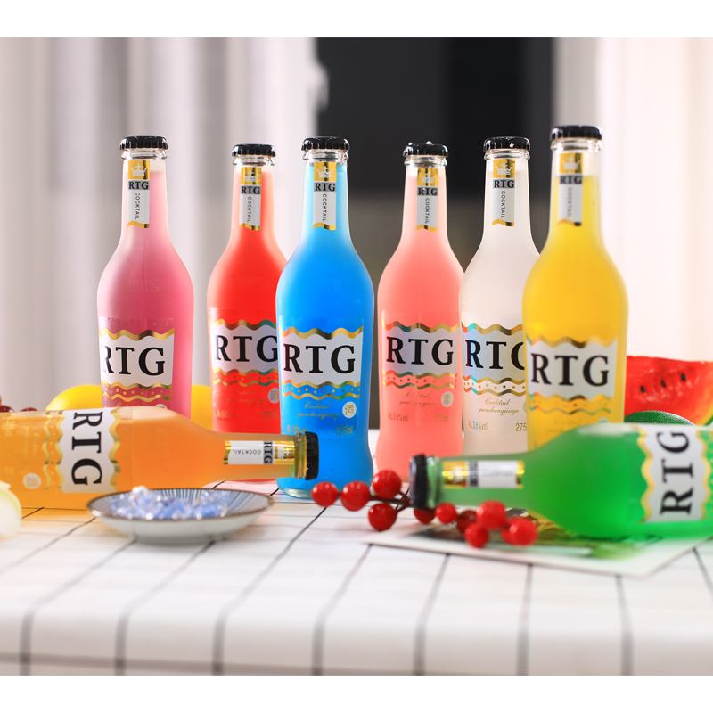 8瓶装预调鸡尾酒【送开瓶器】 水果味酒 女士酒 低度酒 磨砂瓶