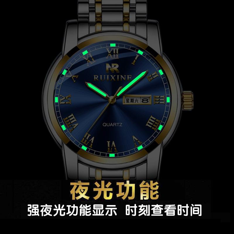 2019 新款瑞士名表全自动夜光防水时尚潮流腕表 瑞西尼正品男士手表