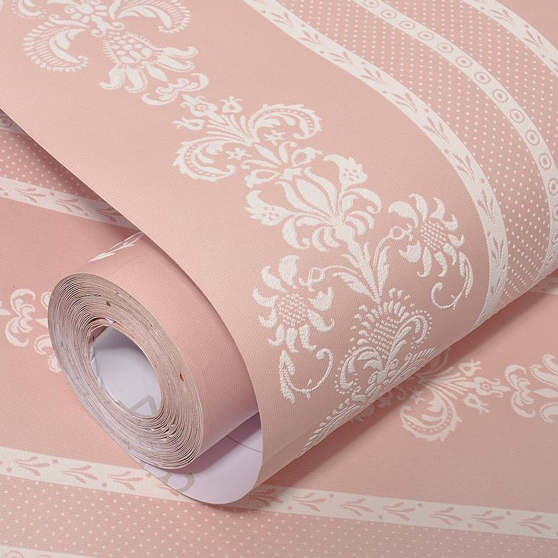 无纺布自粘墙纸女孩宿舍卧室温馨粉网站红背景墙壁纸家用客厅