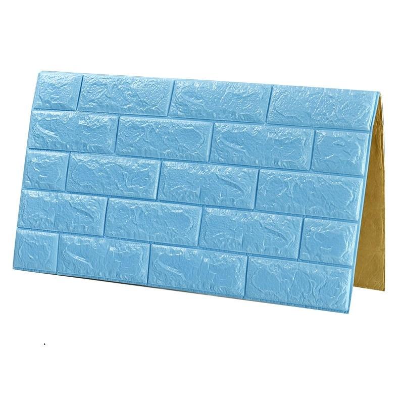 立體墻貼客廳臥室溫馨自粘墻紙磚紋壁紙背景墻防水泡沫自貼貼紙 3d