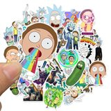 85 Zhangmei Guo cartoon Rick and Morty Rick and Morty Amazon explosion models waterproof stickers can be moved