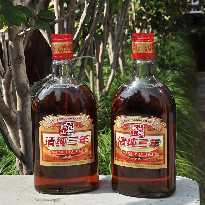 6 古越龍山紹興黃酒清純三年 500ml 瓶整箱裝花雕酒糯米酒
