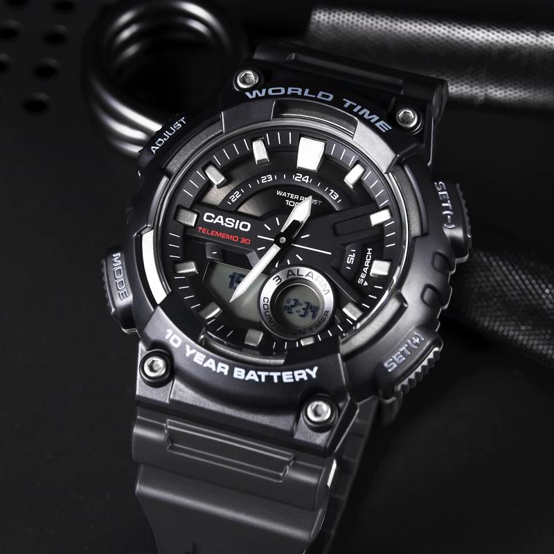 aeq110w Casio 卡西欧手表精工手表男女运动时尚电子表网红 学生表