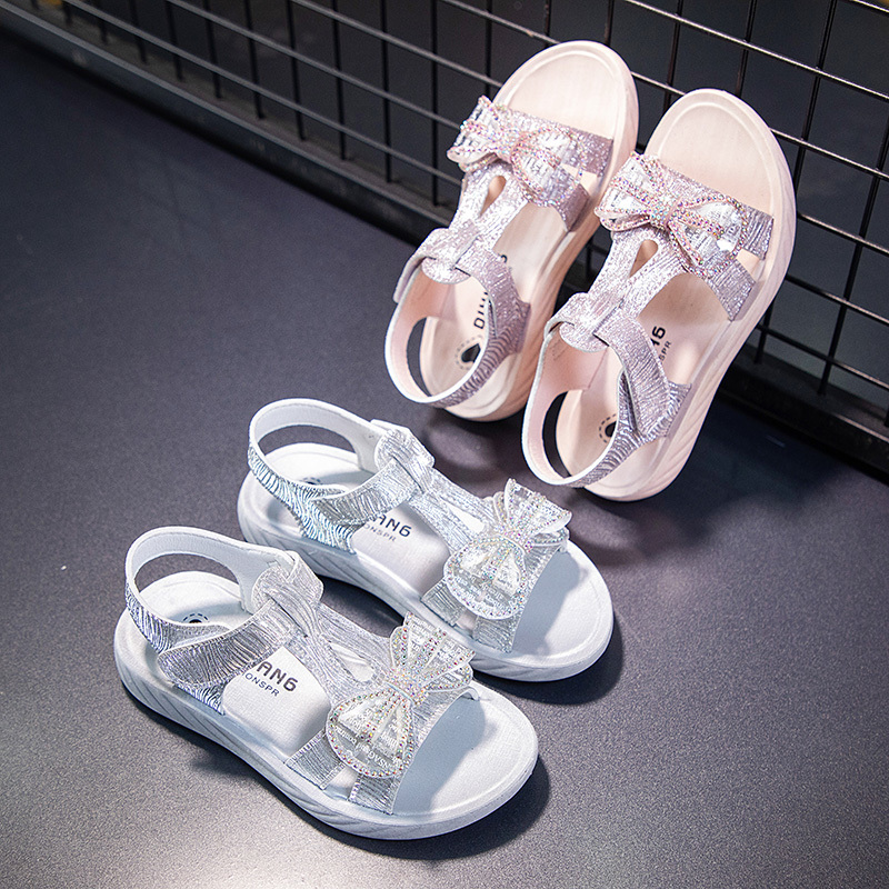 女童凉鞋2020新款小女孩时尚亮片公主鞋夏季软底沙滩鞋儿童凉鞋女