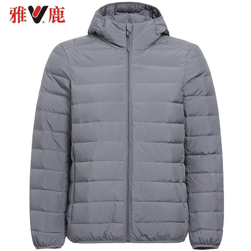 2019  K 秋冬新连帽短款轻薄羽绒服休闲账动保暖外套 yaloo 雅鹿男装
