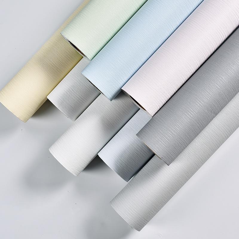 森系纯素色卧室自贴壁纸防水可擦洗 ins 北欧现代简约自粘墙纸宿舍