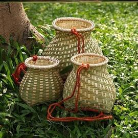 水果竹编制品鱼篓创意收纳篮装饰篮子家居小号大号中号收纳筐茶叶